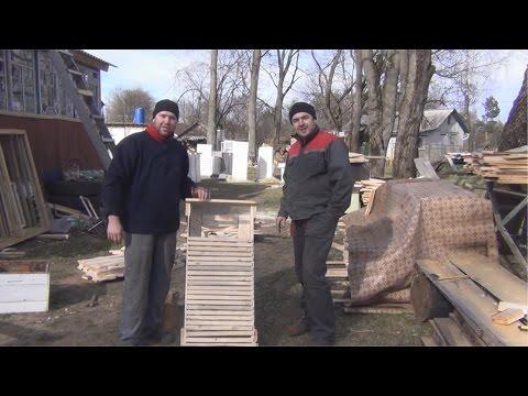 Ящик для транспортировки рамок и стеллаж для хранения рамок от канала Белорусское Пчеловодство