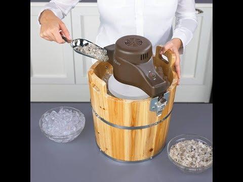 Máquina para hacer Helado Oster 4-Quart Cubeta Madera de Pino