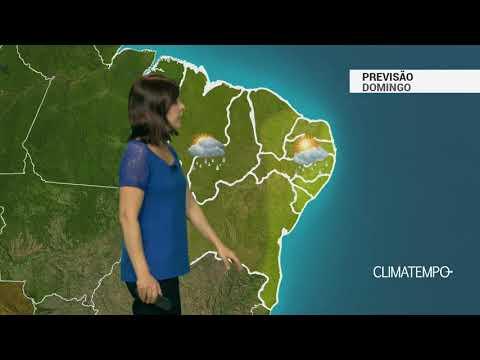 Previsão Nordeste - Interior da Bahia com chuva