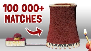 100,000 Matches Chain Reaction Fire Domino