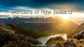 WONDERS OF NEW ZEALAND: SOUTH ISLAND 1HR 4K Nature Relaxation   Ambient Dynamic Film (+Music)