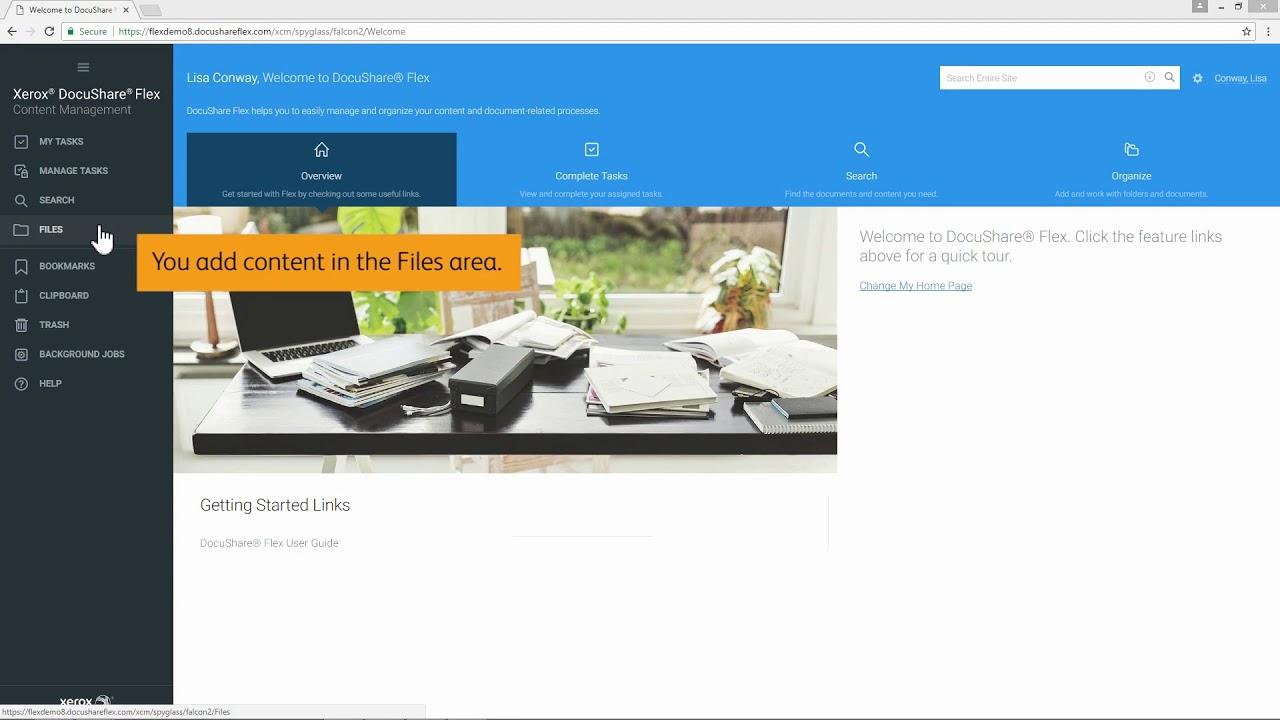 Xerox DocuShare Flex Content Management Platform: Add Content YouTube Videosu