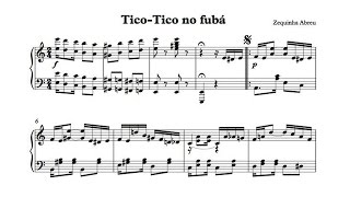 """""""Tico-Tico no fubá"""" Zequinha Abreu - P. Barton, piano"""