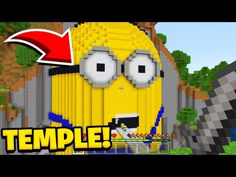 Minecraft : We Found The TEMPLE OF MINIONS (Ps3/Xbox360/PS4/XboxOne/PE/MCPE)