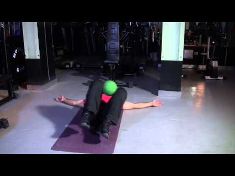 ABDOMINALS (OBLIQUES) - Bent Knee Pelvic Twist With Medicine Ball