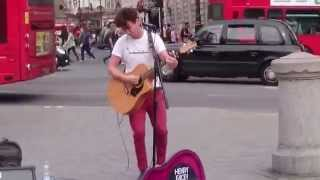 The Beatles, Norwegian Wood Cover (Henry Facey cover) - Busking in the Streets of London, UK