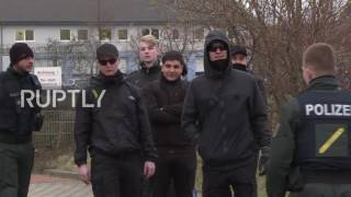 Germany: Protesters march against erection of crosses on mosque site in Erfurt