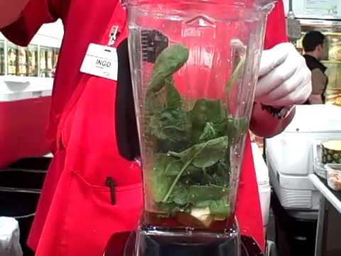 Video Vitamix Spinach Ice Cream