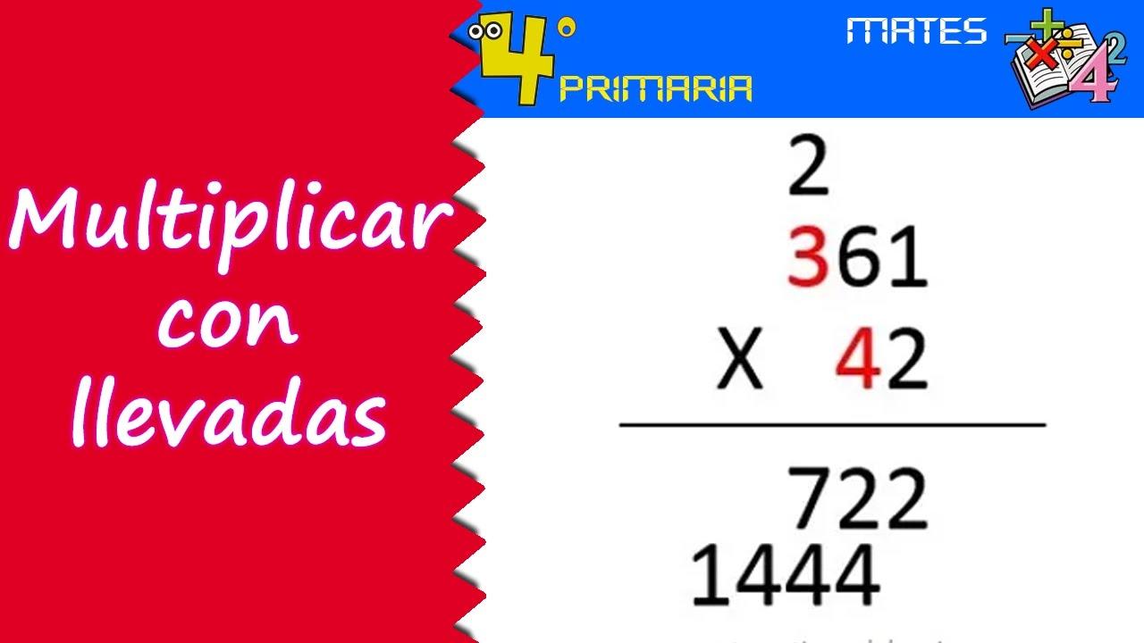 Matemáticas. 4º Primaria. Tema 2. Multiplicación con llevadas