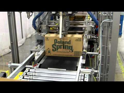 Selladora de cajas TBS-300 para cajas tipo Bliss y con pestañas laterales a 40 CPM