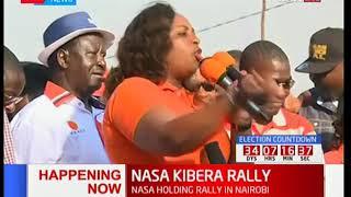 MP Aisha Jumwa raises a feverish crowd at Kibra-Nairobi