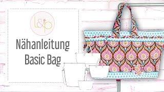 Nähanleitung lillesol Basic Bag - ein ganz einfache Tasche in 4 verschiedenen Größen nähen