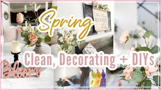 Spring Decorate With Me 2020    Clean, Decorate + Spring DIY Decor   Spring Home Tour  