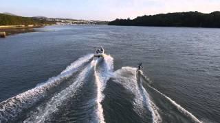 Wake Boarding on the Menai Strait