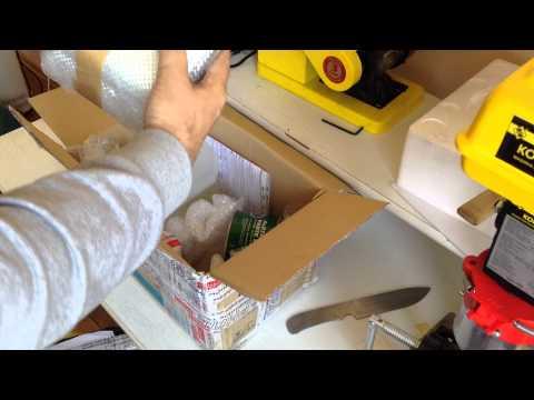 Распаковка посылки с материалами для G10, карбон, стеклоткань, эпоксидка. И про мой сапожный нож.