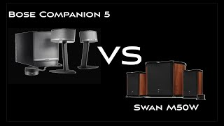 Swan M50W vs Bose Companion 5