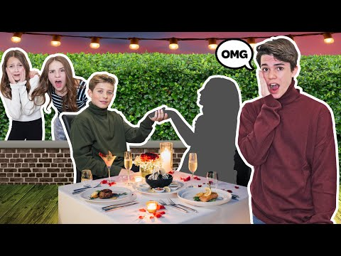 Going On a FAKE DOUBLE DATE To See How My CRUSH REACTS *FUNNY PRANK* |Jentzen Ramirez Piper Rockelle