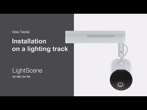 Installing LightScene Models on a Lighting Track | Epson LightScene Tutorial