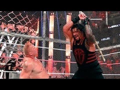 Roman Reigns vs  Brock Lesnar  Steel Cage Match Full Match
