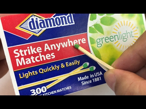 Diamond Greenlight Strike Anywhere Matches review