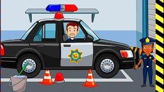 Мультик игра про машинки - полицейские машины и их работа! Новые развивающие и обучающие мультфильмы