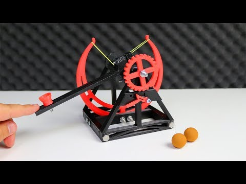 Da Vinci Katapult mit einem 3D Drucker drucken - Geeetech A20M Review