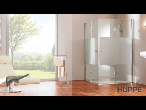 HÜPPE Design pure swinging folding door Width: 90cm stop left for shower tray