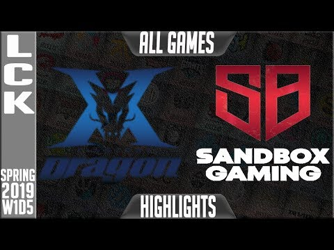 KZ vs SB Highlights ALL GAMES | LCK Spring 2019 Week 1 Day 5 | King-Zone DragonX vs Sandbox Gaming