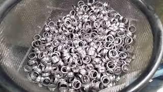 Cranking in the bearing shop.  American-made ball bearings!