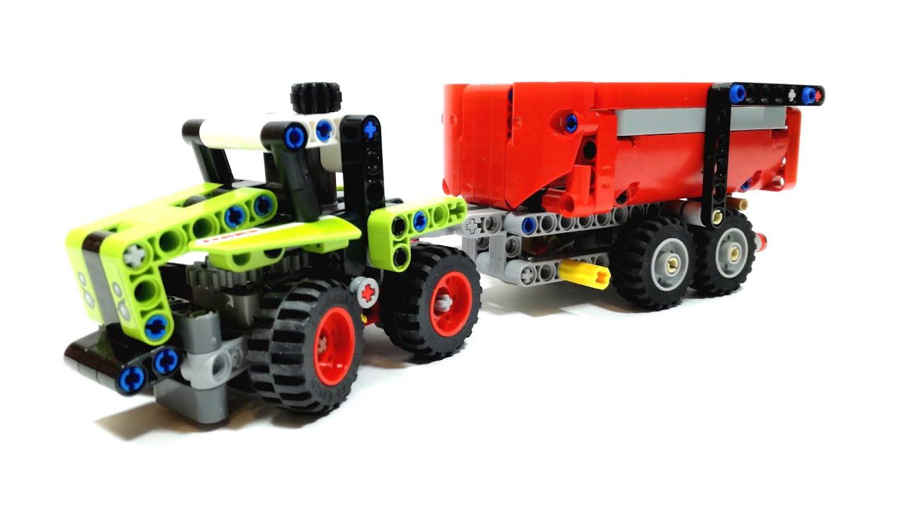 LEGO TECHNIC 42102 Mini Claas Xerion with two axle dump trailer