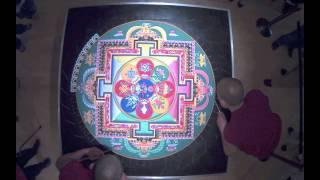 Sacred Tibetan Sand Mandala Time Lapse