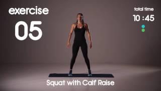 20 min Full Body HIIT Workout - Beginner Strength - 40s/40s Intervals
