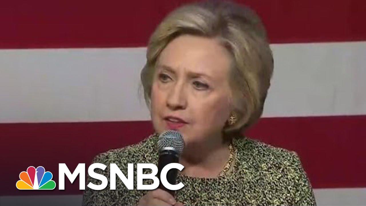 Hillary Clinton Attacks Bernie Sanders On Guns, Blasted For 'CP Time' Joke   Andrea Mitchell   MSNBC thumbnail
