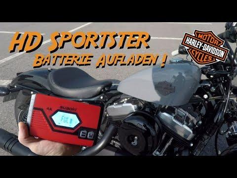 Batterie aufladen Sportster Forty Eight oder Iron 883 Harley Davidson