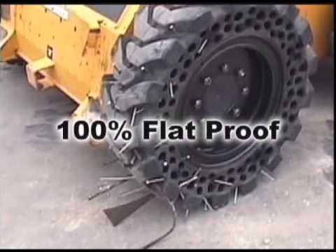 McLaren Flat proof tyres for skid steer loaders