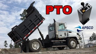Operating PTO and controls on Mack dump truck
