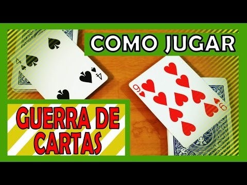 Como jugar Guerra de cartas
