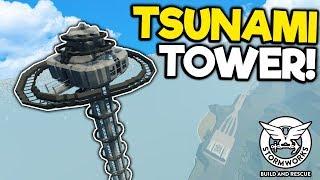 Massive Tsunami & Storm Proof Tower! - Stormworks Gameplay