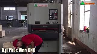 Chà nhám thùng 2 trục Woodmaster   Máy chà thùng giá tốt nhất HCM