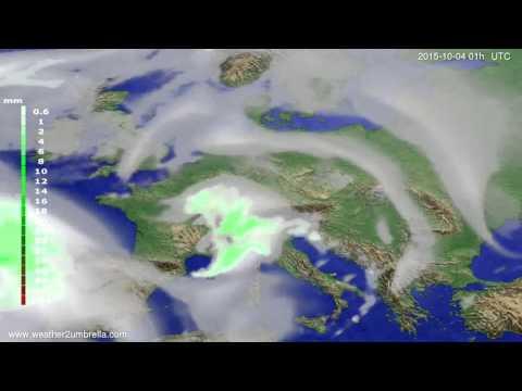 Precipitation forecast Europe 2015-10-01