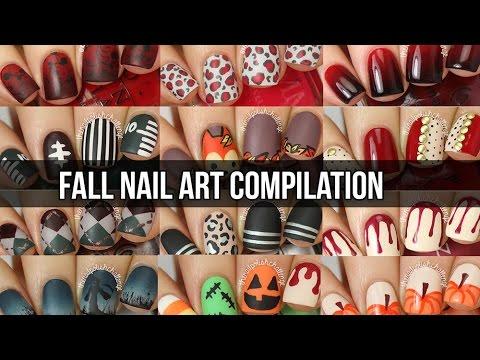 HUGE Fall Nail Art Tutorial Compilation (15 DIY nail designs!)  || KELLI MARISSA