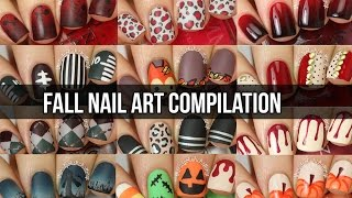 HUGE Fall Nail Art Tutorial Compilation (15 DIY Nail Designs!)     KELLI MARISSA