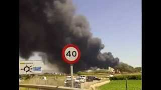 preview picture of video 'Incendio en Fontestad - Museros'