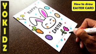 HOW TO DRAW AN EASTER BUNNY CARD