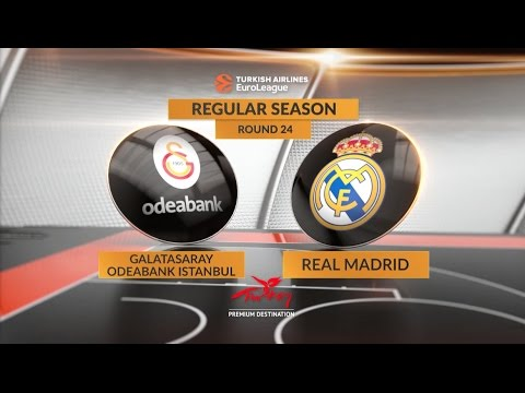 EuroLeague Highlights RS Round 24: Galatasaray Odeabank Istanbul 87-84 Real Madrid