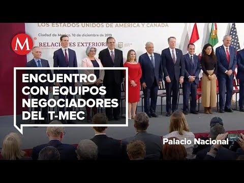 AMLO testifica la firma de modificaciones del T-MEC