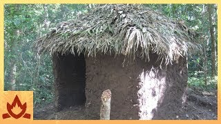 Primitive Technology: Palm Thatched Mud Hut | Kholo.pk