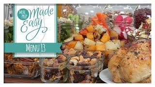 Healthy Meal Prep   Menu 13   Pumpkin Spice Cookies, Autumn Quinoa Salad, Butternut Squash Soup