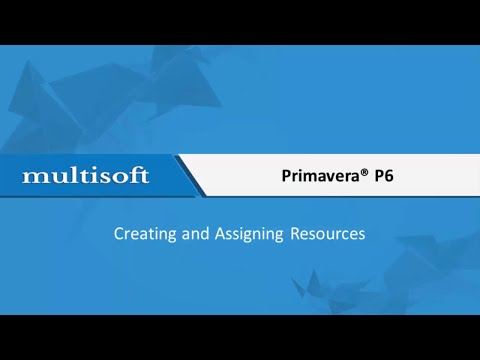 Creating and Assigning Resources in Primavera Training