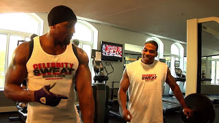 NFL Star Ray Lewis & NELLY Workout